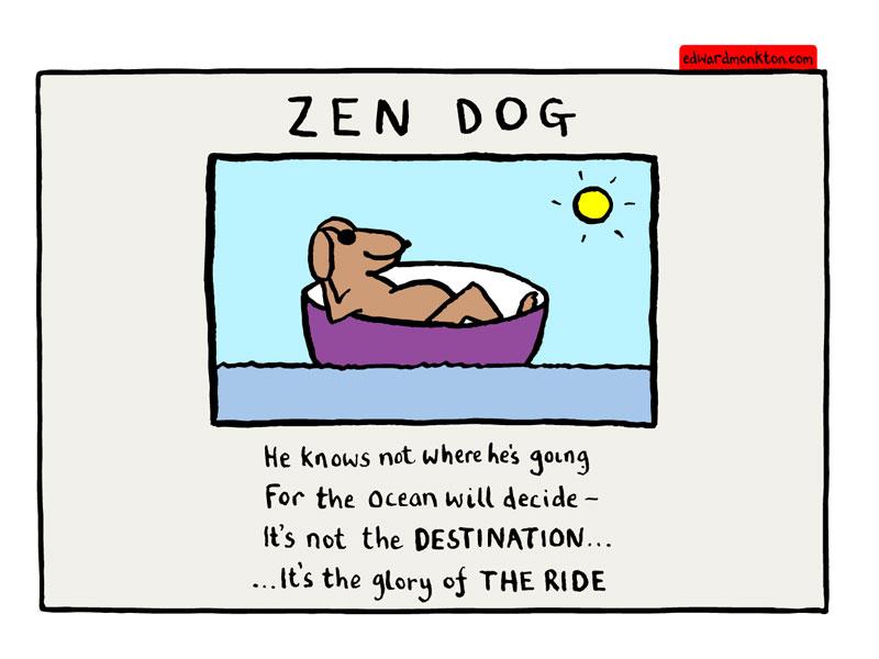 Edward Monkton Zen Dog Poster For Sale